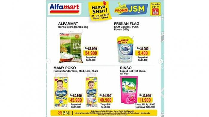 Promo JSM Alfamart 24-28 Juli, Diskon Beras, Milk Fair, Aneka Camilan hingga Beli 2 Gratis 1