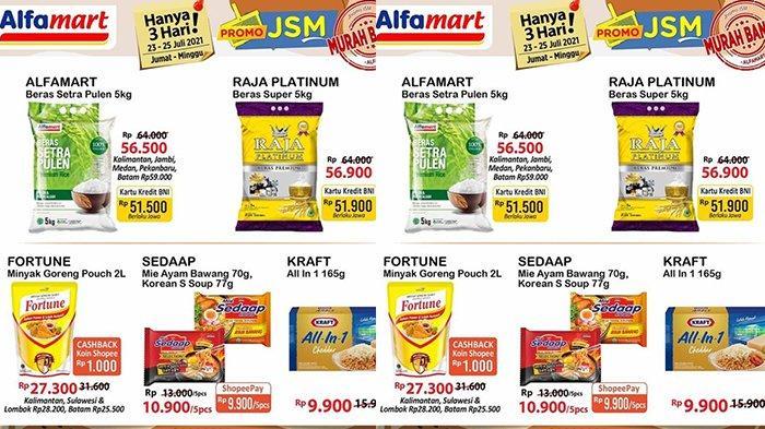 Promo JSM Alfamart 24 Juli 2021, Minyak Goreng Fortune 2L Rp25.500, Beras Raja Paltinum 5Kg Rp51.900