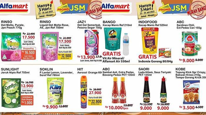 Promo JSM Alfamart 25 Juli 2021, Rinso 750Ml Rp12.500, Sunlight 755Ml Rp12.900, Indomie Gratisan