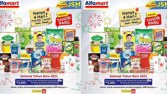 Promo JSM Alfamart dan Indomaret 31 Desember 2020-3 Januari 2021 Spesial Tahun Baru, Banjir Diskon