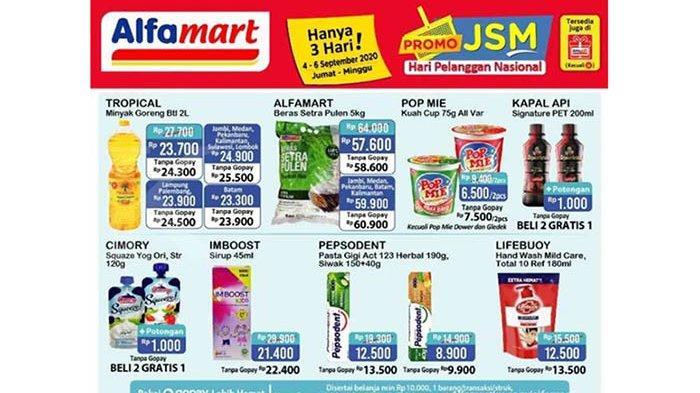 Hari Terakhir Promo JSM Alfamart 6 September 2020, Beras, Minyak Goreng, hingga Popok Turun Harga