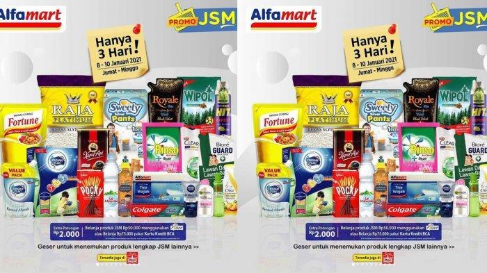 Promo JSM Alfamart 9 Januari 2021, Beras, Minyak Goreng, Susu Anak hingga Camilan Turun Harga