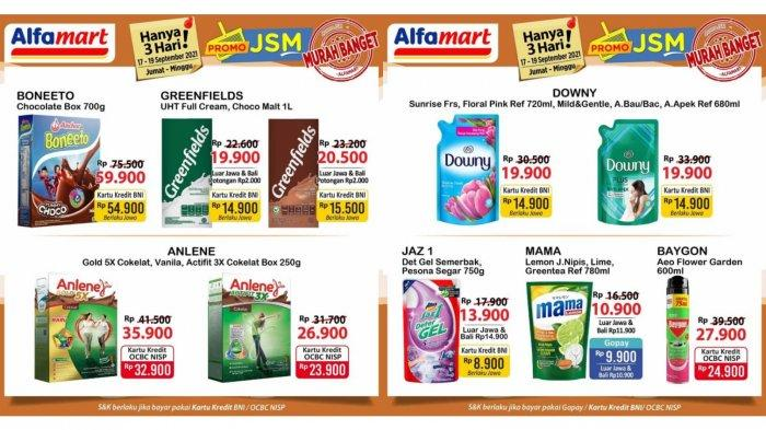 MURAH BANGET! Promo JSM Alfamart Hari Ini 18 September 2021, Downy Rp 19.900, Anlene Rp 26.900