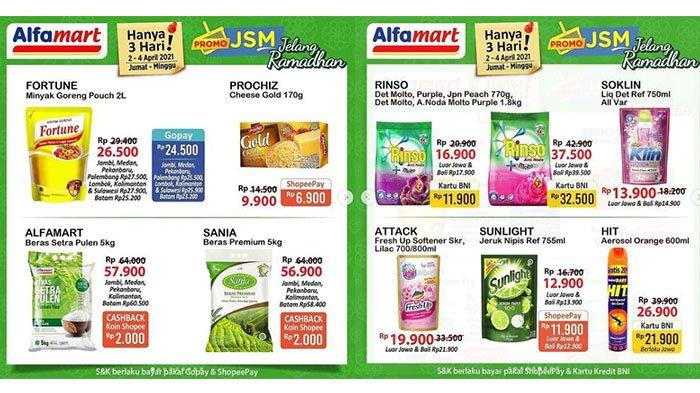 Hari Terakhir Promo JSM Alfamart 4 April 2021, Promo Minyak Goreng, Deterjen, Mi Instan 5 Rp11.500