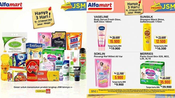 Promo JSM Alfamart Hari Ini 20 Februari 2021, Popok Diskon Rp13.100, Mie Instan Beli 5 Rp10.500