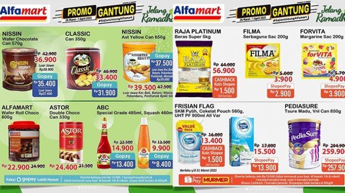 Promo Gantung Alfamart Minggu 28 Maret 2021, Promo Beras, Minyak Goreng, Sirop Rp 9 Ribuan