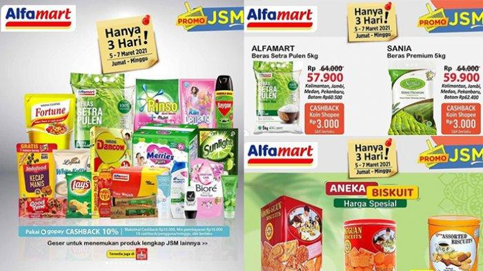 Promo Alfamart Besok 7 Maret 2021, Cashback 17.500, Diskon Beras, Mi Instan, Sabun, Diapers, Cemilan
