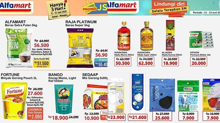 Promo JSM Alfamart TERBARU 11-13 Juni 2021, Beras 5Kg Rp51.500, Mie Instan Beli 5 Cuma Rp 8 Ribuan
