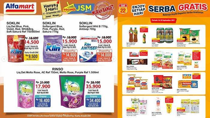 PROMO JSM Alfamart TERBARU 17-19 September 2021: Beli Vaseline Gratis 1L Bimoli, Beras 5Kg Rp51.500