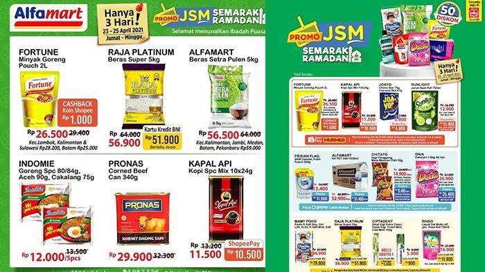 Promo JSM Alfamart TERBARU 23-25 April 2021, Beras Super 5Kg Rp51.900, Sirup Marjan Rp 3 Ribuan