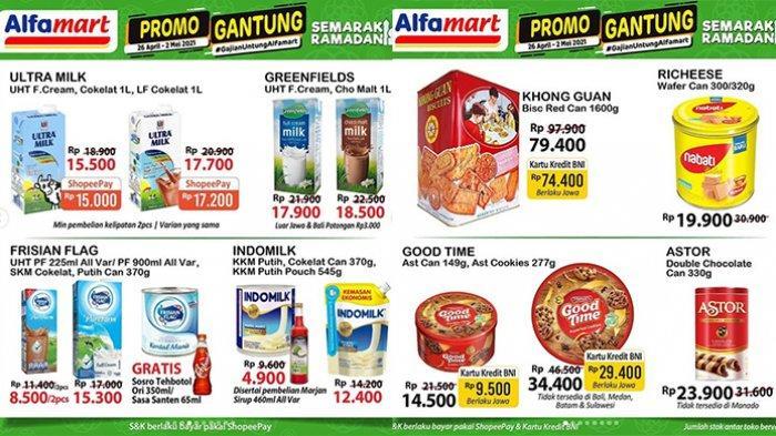 Promo JSM Alfamart TERBARU 30 April - 2 Mei 2021, popok murah Rp 40 ribuan saja, banyak gratisan sirup, minuman.