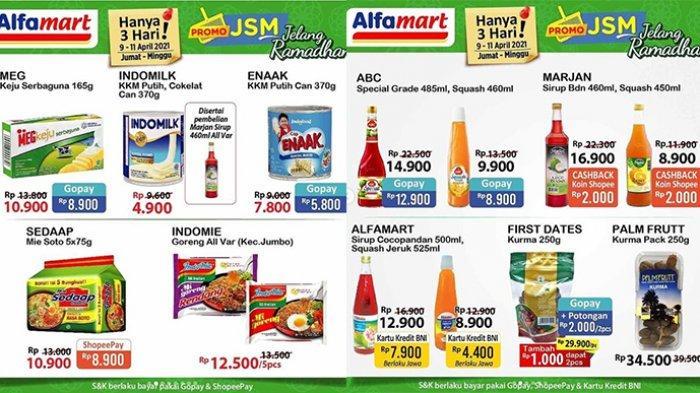 Promo JSM Alfamart Terakhir 11 April 2021, Ada Cashback Mie, Beras, Minyak Goreng, Sirup, Biskuit