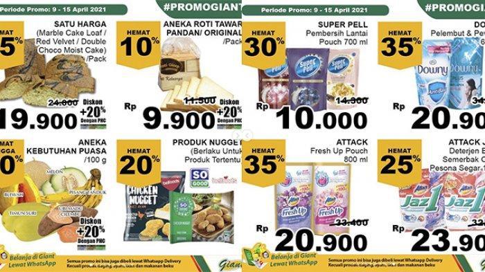 Promo JSM Giant TERBARU 9-15 April 2021, Sarden Beli 2 Gratis 1, Sampo, Snack, Tisu, Buah Diskon 40%