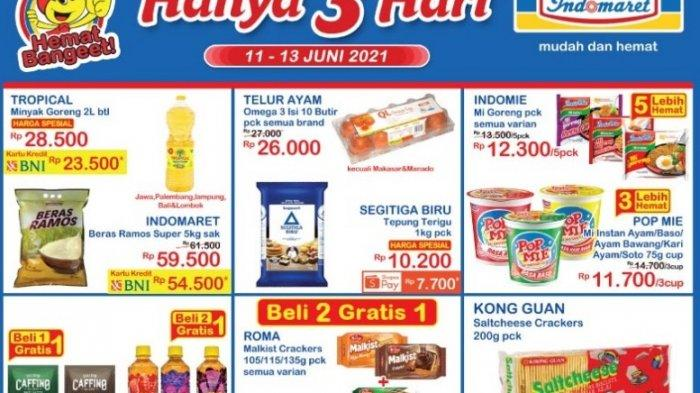 Promo JSM Indomaret 12 Juni 2021, Pop Mie 3 Cup Rp 11 Ribuan, Kong Guan Crackers Rp4.400