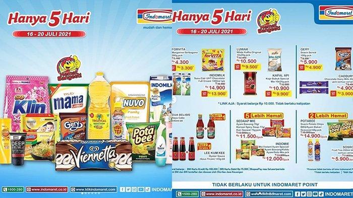 Promo JSM Indomaret 17 Juli 2021, Susu UHT 1L Rp13.900, Snack Beli 2 Lebih Hemat, Beras 5Kg Rp54.900