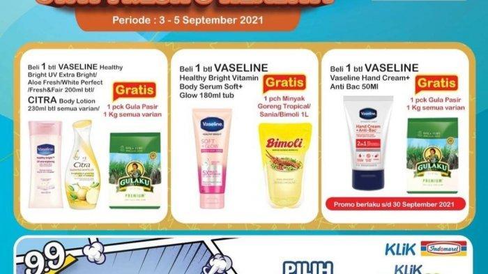 PROMO JSM Indomaret & Alfamart 4 September 2021, Beli Vaseline Gratis Minyak Goreng, Sunlight 6.900