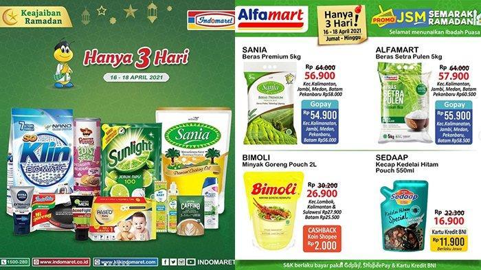 TINGGAL SEHARI, Promo JSM Indomaret & Alfamart: Beras 53.900, Minyak Goreng 25.200, Mi Instan 11.500