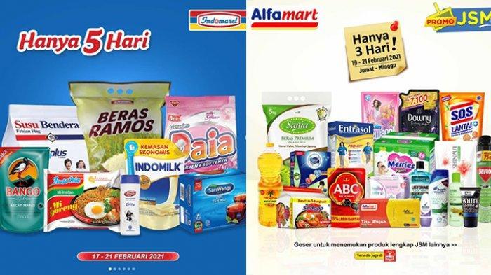 Promo JSM Indomaret dan Alfamart 21 Februari 2021, Minyak Goreng 2L Rp25.900, Beras 5 Kg Rp53.900