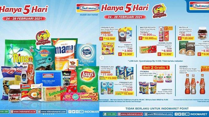 Promo JSM Indomaret hari ini Sabtu 27 Februari 2021, ada harga spesial susu dan popok, juga snack beli 2 gratis 1.