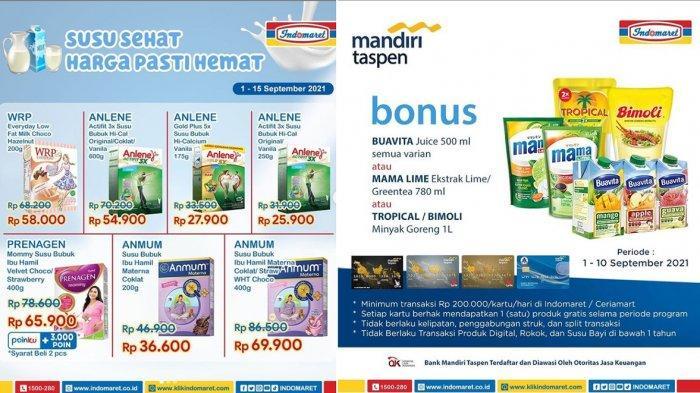 PROMO JSM INDOMARET 3 September 2021, Gratis Minyak Goreng 1L, Susu Harga Hemat, Redoxon Rp 8.900