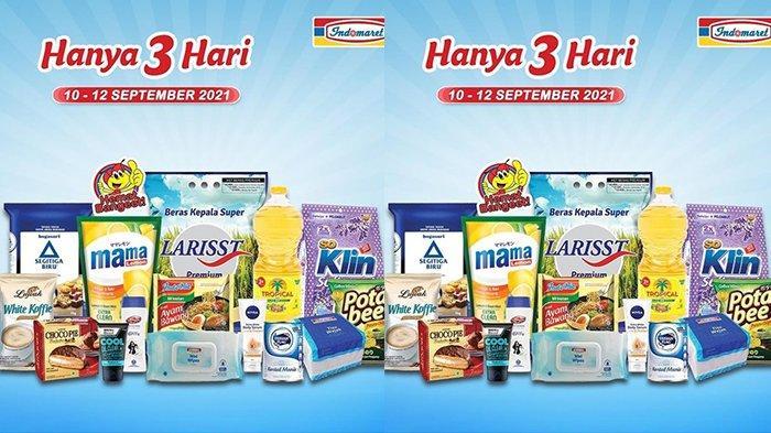 Promo JSM Indomaret TERBARU 10-12 September 2021, Minyak Goreng Tropical 2L Rp24.500,Popok Rp29.900