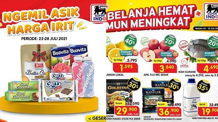 Promo JSM Superindo 25 Juli 2021, Snack Beli 2 Gratis 1, Gurame Rp3.890, Kentang Goreng Diskon 45%