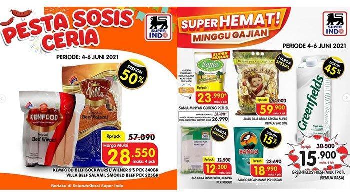 PROMO JSM Superindo Hari Ini 5 Juni 2021: Pesta Sosis Diskon Up To 50%, Susu Greenfields 1L Rp15.900