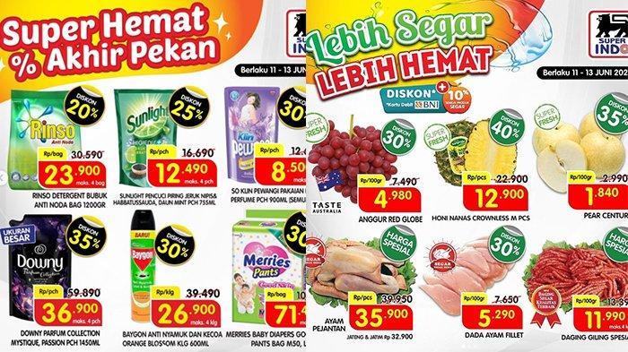 Promo JSM Superindo TERAKHIR 13 Juni 2021, Dada Ayam Rp5.290, Beras 5Kg Rp59.900, Sosis Diskon 45%