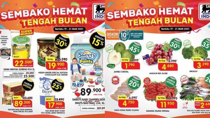 Promo Superindo Hemat Tengah Bulan 21 Maret 2021, Minyak Goreng Rp22.500, Buah dan Sayur Diskon 35%