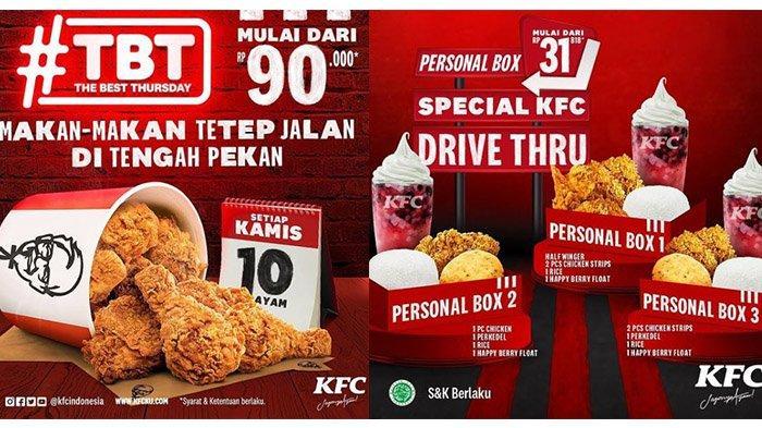 PROMO TERBARU KFC Spesial Hari Kamis 4 Maret 2021, 10 Potong Ayam Mulai RP 90 Ribu