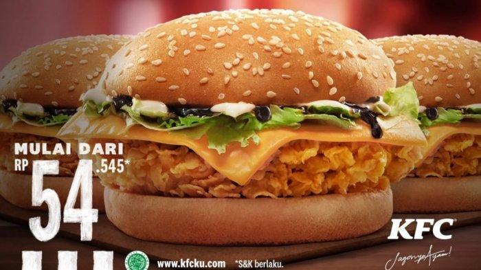 TERBARU! Promo KFC Hari Ini 12 April 2021, Triple Krispy Burger Mulai dari Harga Rp 54.545