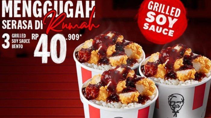 Promo KFC Hari Ini 13 April 2021, 3 Grilled Soy Sauce Bento Mulai dari Harga Rp 40.909