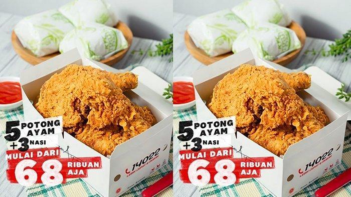 Promo KFC Hari Ini 18 Juli 2021, Paket 5 Ayam Goreng + 3 Nasi Cuma Rp 68 Ribuan