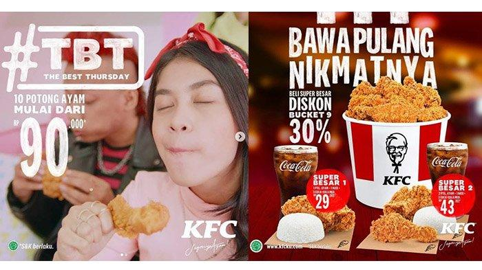 Promo KFC The Best Thursday Hari Ini 18 Maret 2021, 10 Potong Ayam Mulai dari Rp 90.000