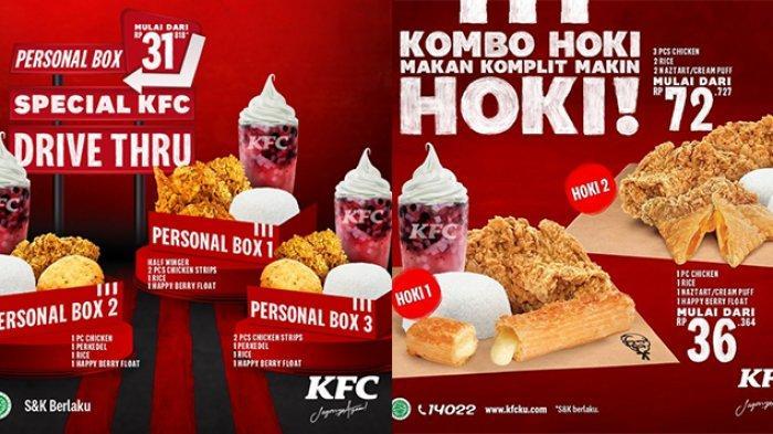 Mau sarapan apa pagi ini? Nikmati promo KFC hari ini 2 Maret 2021 mulai Rp 30 ribuan.
