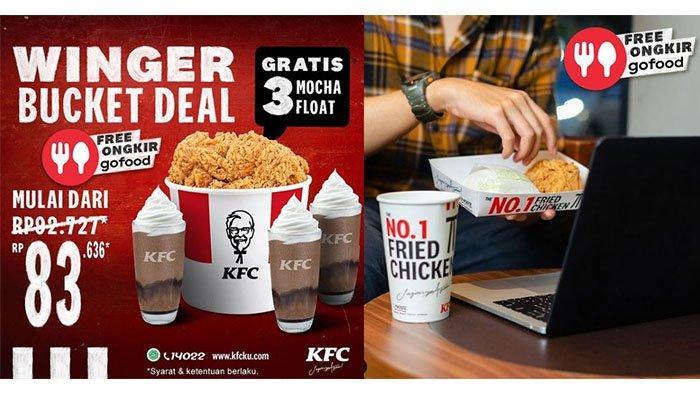 TERBARU!, Promo KFC Hari Ini 27 Maret 2021, Bucket Winger & 3 Mocha Float Rp 83.636