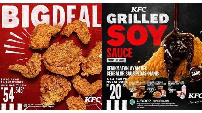 Promo KFC Sabtu 20 Februari 2021, Promo Burger 10 Ribuan, 2 Ayam dan 3 Half Winger Rp 54 Ribuan