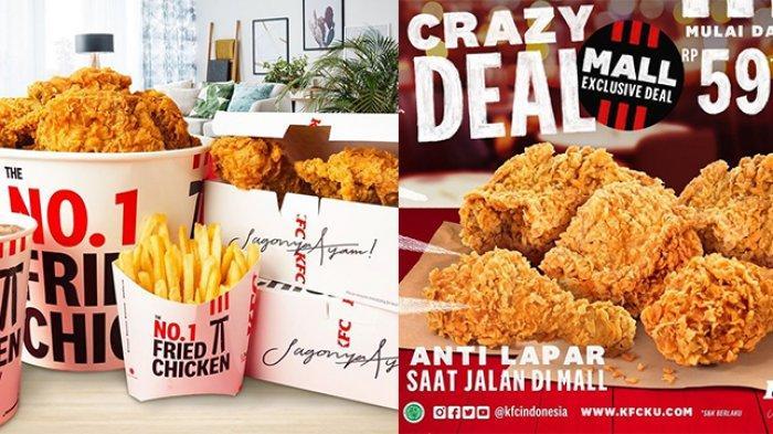 Promo KFC Hari Ini Senin 5 April 2021, Mulai Rp 50 Ribuan Dapat 5-9 Potong Ayam