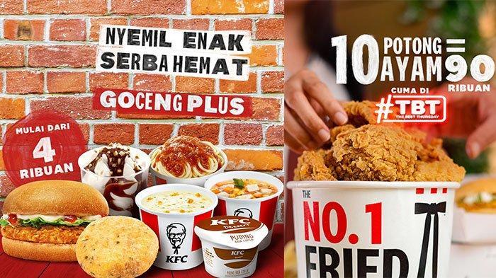 Promo KFC TBT Kamis 14 Oktober 2021, 10 Ayam Cuma Rp90 Ribuan, Sundae, Sup, Spageti Rp4 Ribuan