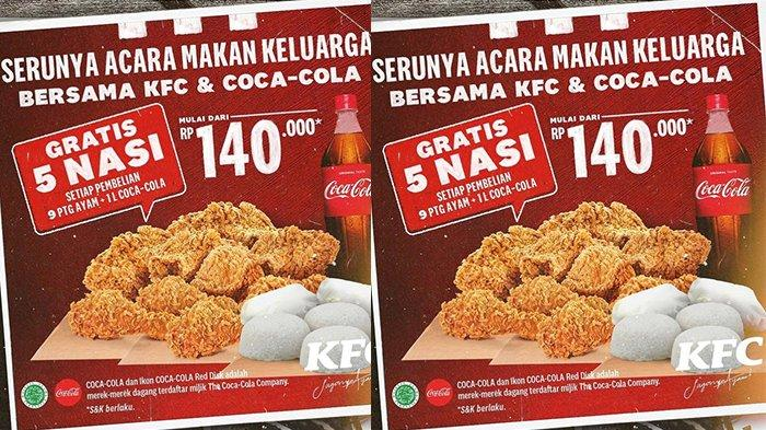 Promo KFC Spesial Weekend 13 Juni 2021, Makan Hemat Rame-rame Mulai Rp 140.000