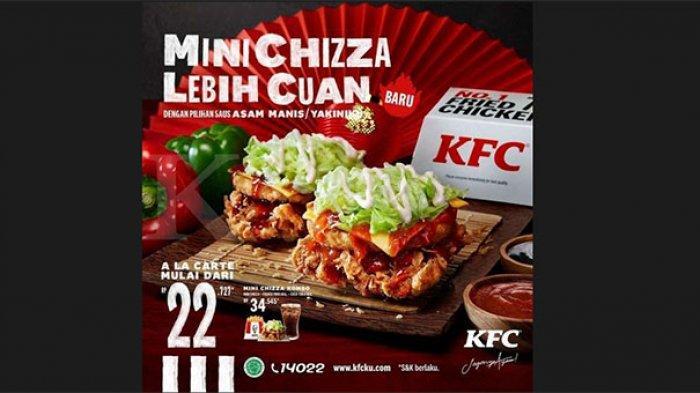 Promo KFC Hari Ini 3 Februari 2021, Paket Mini Chizza Mulai Harga Rp 22.727