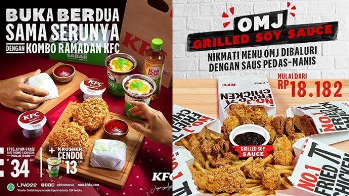 Promo KFC TERBARU 14 April-16 Mei 2021, Cendol Rp13.636, Camilan Rp18.182, Paket Komplet Rp34.545