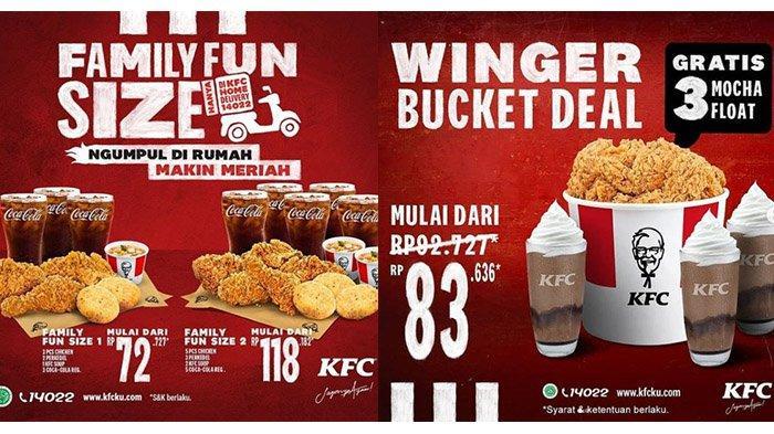 Promo KFC Terbaru, Hari Ini 27 Februari 2021: Rp 72 Ribuan Dapat 3 Ayam, 2 Perkedel, 1 Soup, 3 Cola