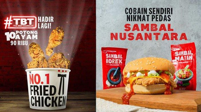 PROMO KFC TERBARU Hari Kamis 26 Agustus 2021:Buruan Order Menu TBT hingga Winger Bucket