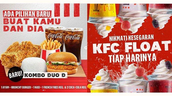 Promo KFC 15 September, 1 Ayam + 1 Krunchy Burger + 1 Nasi + 1 French Fries + 2 Coca-Cola Rp 50.000