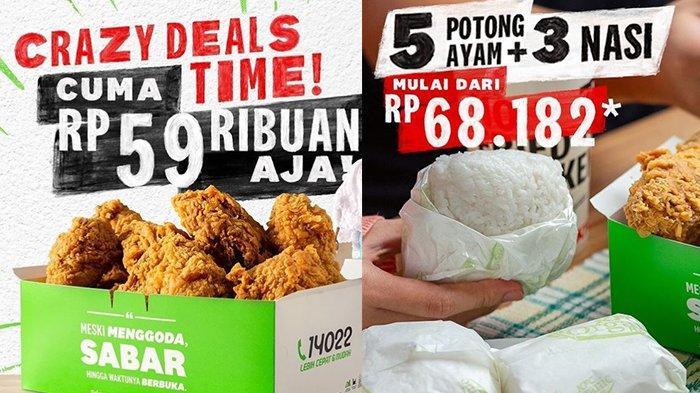 Promo KFC untuk Besok 4 Mei 2021, 9 Potong Ayam Mulai Rp 59 Ribuan, Cocok untuk Bareng-bareng