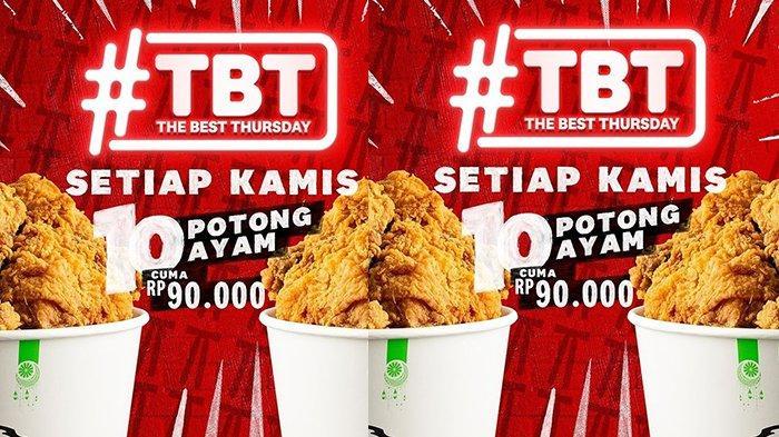Promo KFC untuk Besok Kamis 13 Mei 2021, 10 Potong Ayam Goreng Cuma Rp90.000
