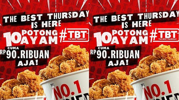 Promo KFC untuk Besok Kamis 27 Mei 2021, Rp90.000 Aja Sudah Dapat 10 Potong Ayam Goreng
