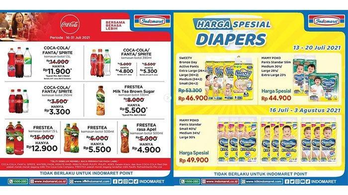 PROMO MINGGU Indomaret 18 Juli 2021: Frestea 1,5L Rp12.900, Harga Spesial Diapers, Daia Rp15.700