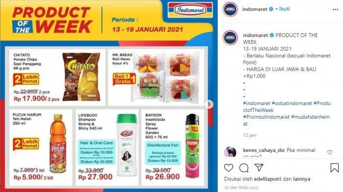 Promo mingguan Indomaret ini berlaku mulai 13-19 Januri 2021.